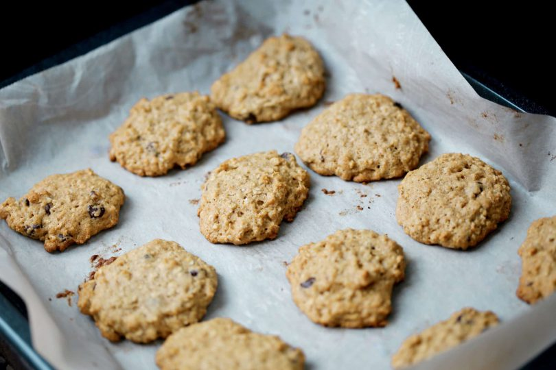 Choco Oat Banana Cookies